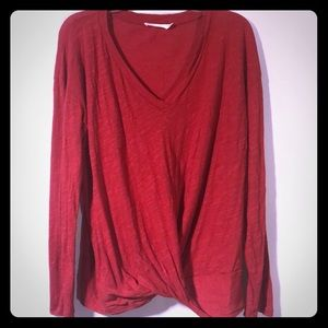 LUSH Woman's Front Knot Blouse